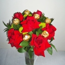 Bouquet de Rosas Importadas e  Ferrero