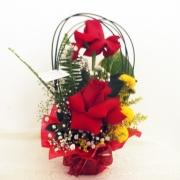 Arranjo com 2 rosas Importadas