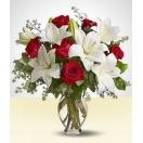 Lirios e Rosas Importadas no Vaso