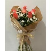 Bouquet com Rosas Laranjas