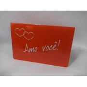 """Cartão """" Amo Você"""""""