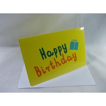 """Cartão """"Happy Birthday"""""""