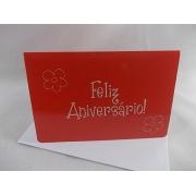 """Cartão """"Feliz Aniversário"""""""